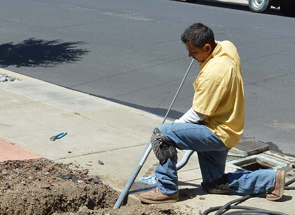 Jack is working on a trenchless sewer repair in Clayton