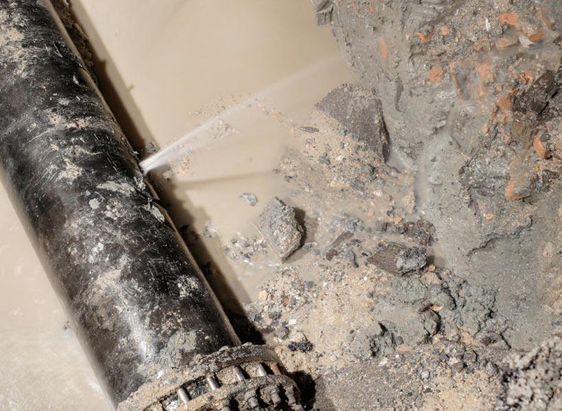 broken sewer line